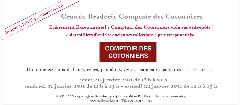 Vente priv e comptoir des cotonniers 20 21 22 janvier - Comptoir des cotonniers soldes privees ...