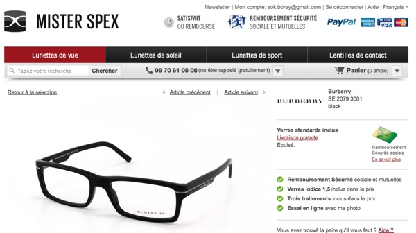 acheter ses lunettes sur internet avec mister spex pleaz. Black Bedroom Furniture Sets. Home Design Ideas