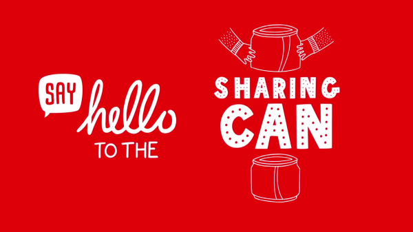 Coca cola sharing can canette