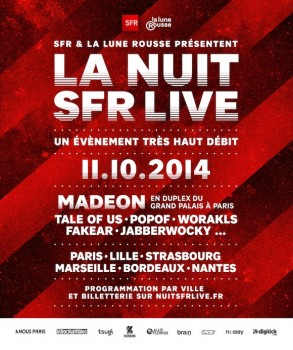 LA NUIT SFR LIVE 2014 - PARIS ET FRANCE