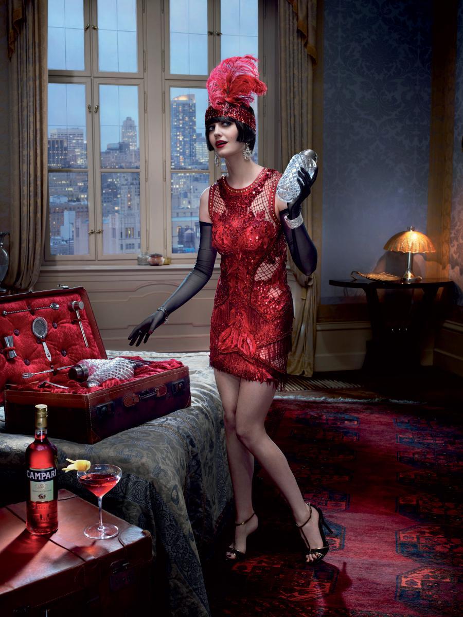 Eva Green Campari Cocktail Boulevardier