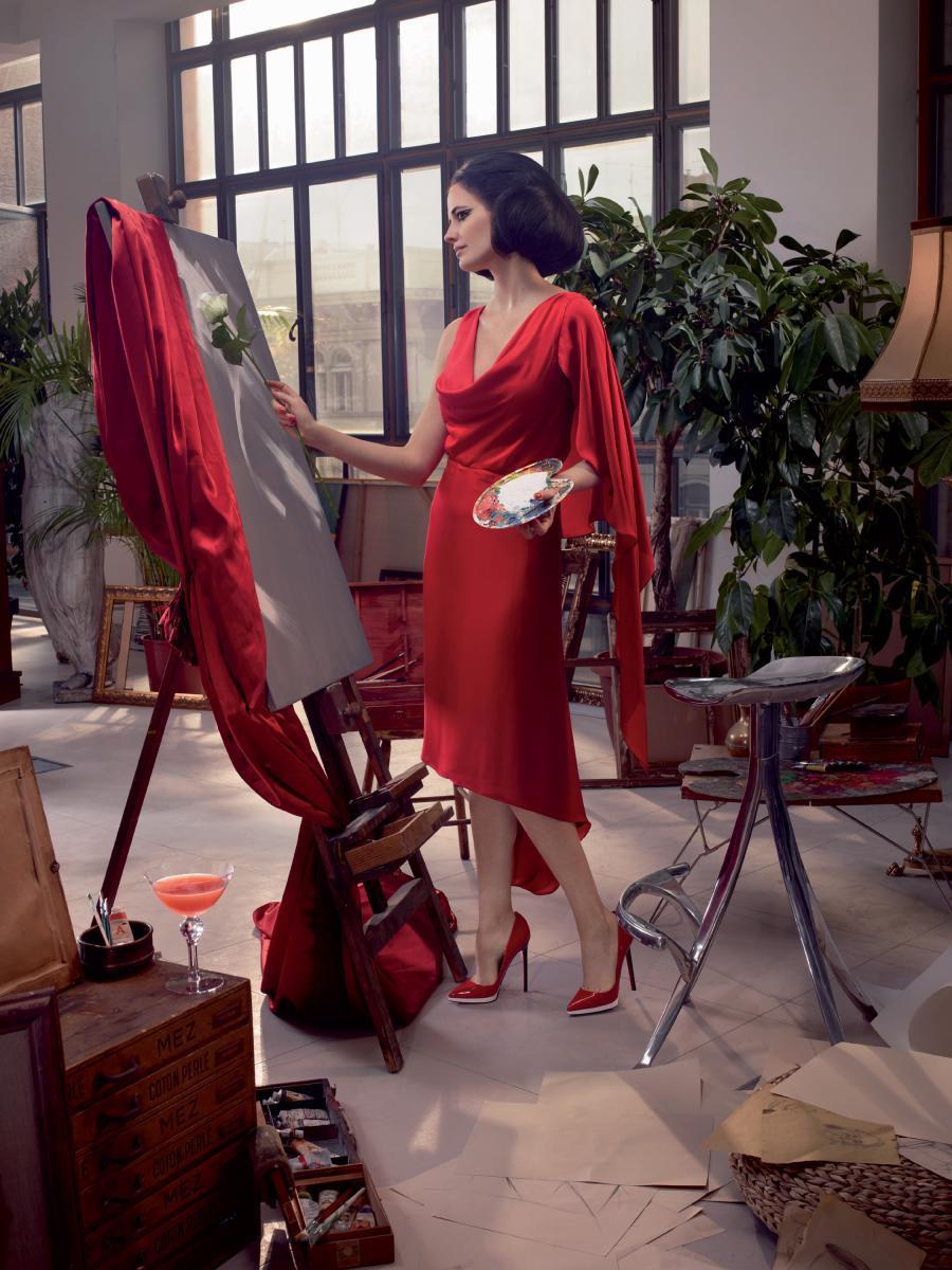 Eva Green Campari Novembre Cocktail Rosa Bianca