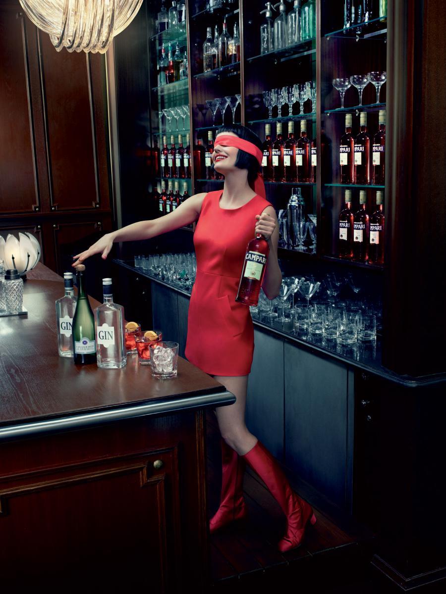 Eva Green Campari Octobre Cocktail Negroni Sbagliato