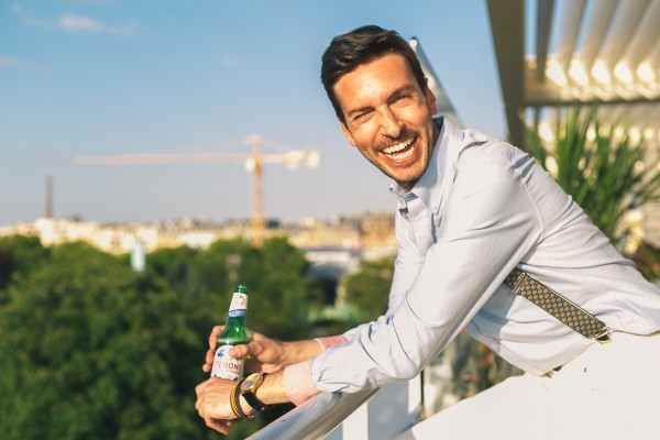 lookbook homme bière Peroni