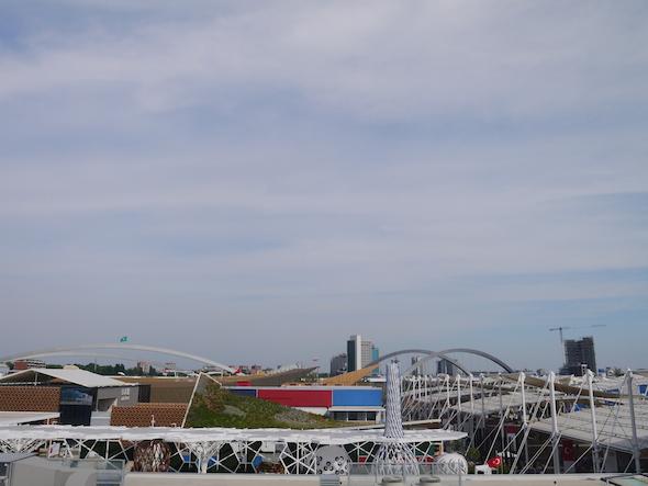 Skyline sur l'Expo