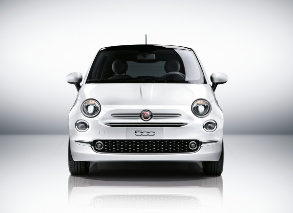 Nuova 500 fiat double moustache